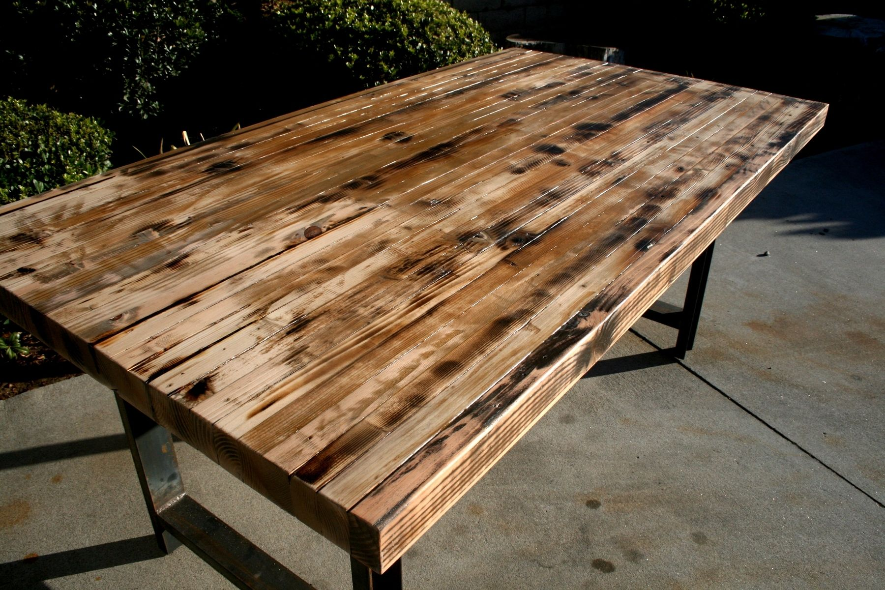 Hand Made Rustic Recycled Butcher Block Dinning Table By The Timber - Reclaimed wood coffee table los angeles