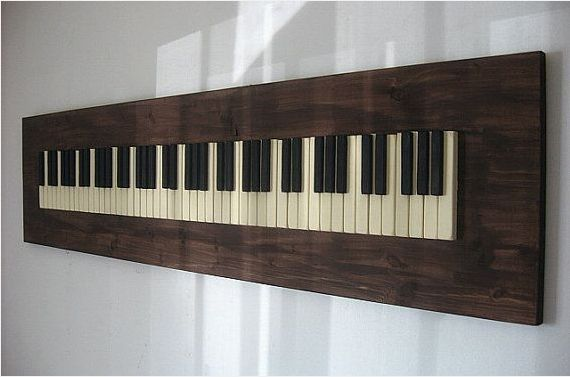 Hand Crafted Repurposed Piano Key Wall Art by PIANOBOX ...