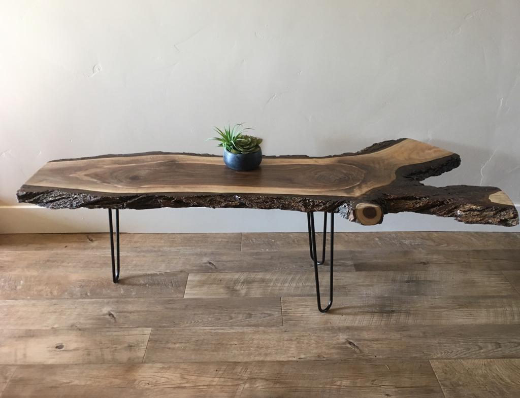 Handmade Black Walnut Live Edge Coffee Table by Wasatch ...