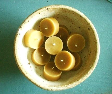 Custom Made Set Of 30 -- Tealights Pure Local Beeswax Candles