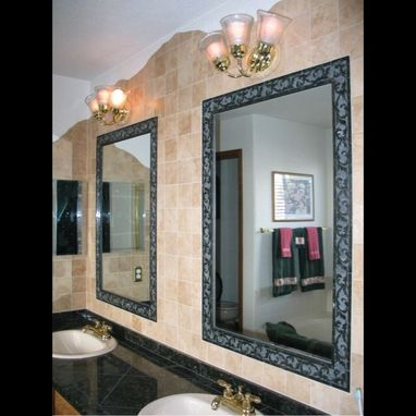 Custom Made Sandblasted Granite And Travertine Bathroom Wall Tile