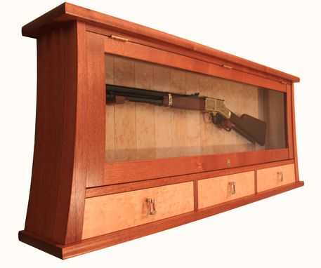 Custom Made Mahogany Gun Display Cabinet