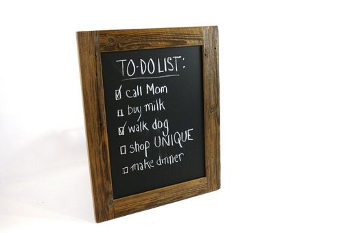 Custom Made Reclaimed Wood Chalkboard // Rustic Barn Wood Whiteboard