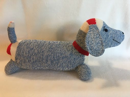 Custom Made Dachshund Sock Monkey  Doll