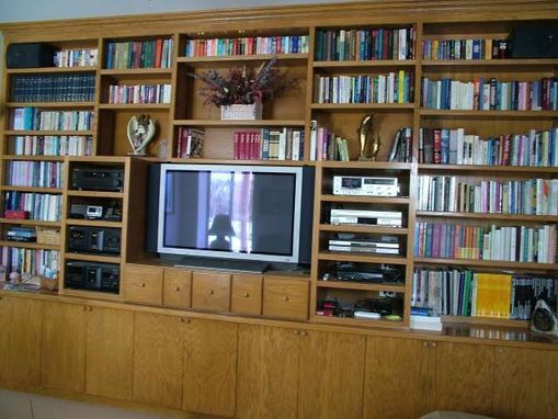 Custom Made Tv Room And Library