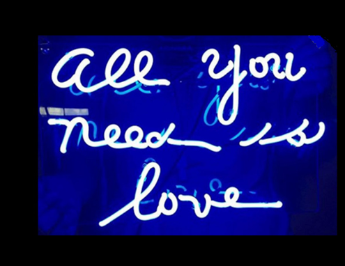 Custom Made All You Need Is Love Neon Sign