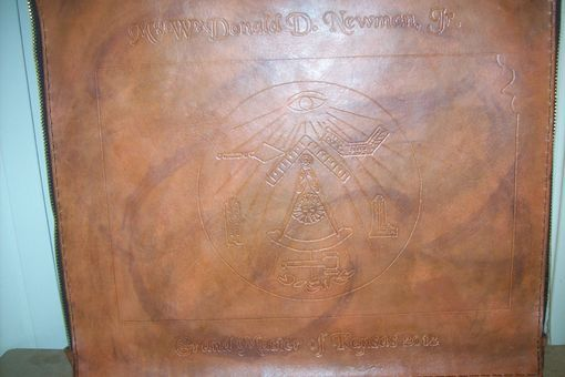 Custom Made Leather Masonic Apron Case For Grand Master