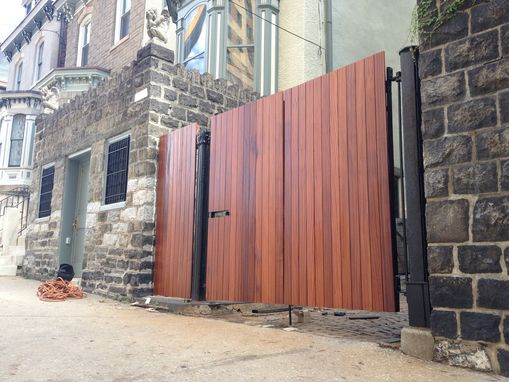 Custom Made Quartersawn Sapele Driveway Gate