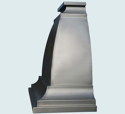 Custom Made Stainless Range Hood With Tall Body