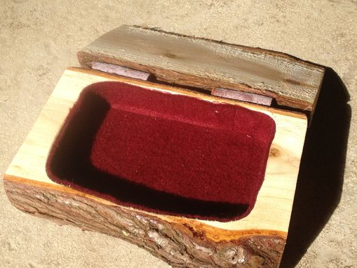 Custom Made Log Trinket Boxes