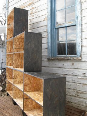Hand Crafted Tansu Style Step Modular Osb Bookcase Room