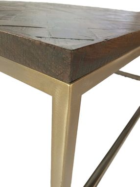 Custom Made Herringbone Coffee Table