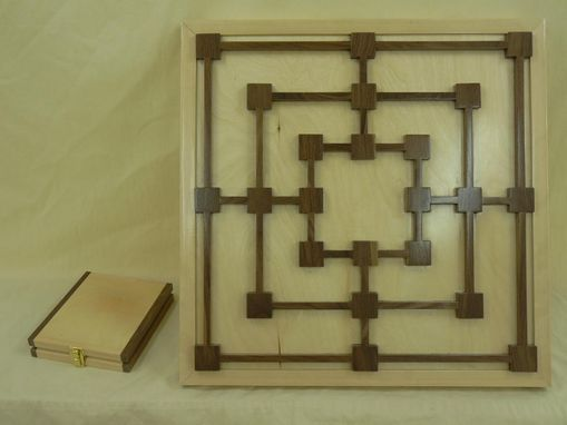 Custom Made Nine Men's Morris Wood Board Game