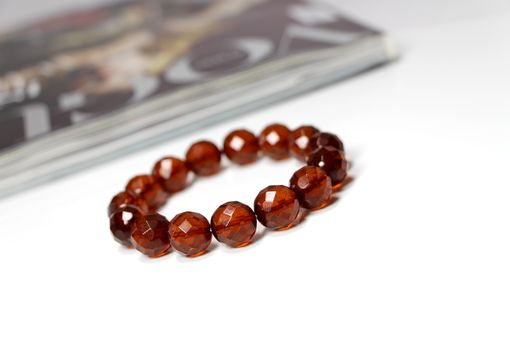 Custom Made Luxury Cognac - Faceted Baltic Amber Bracelet