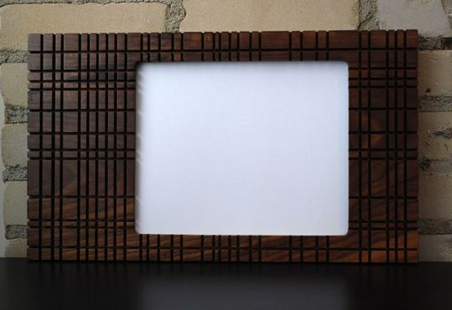 Custom Made Modern Picture Frame Walnut Wood 8x10 Vintage Wallpaper Design