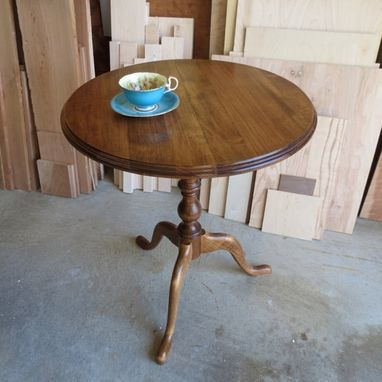Custom Made Maple Candle Stand Pedestal Table
