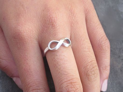 Custom Made Infinity Ring With Custom Message