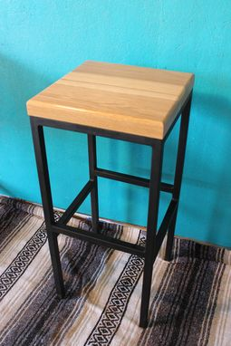 Custom Made Wood And Metal Stools Of Your Design