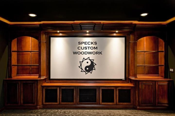 Handmade Custom Maple Home Theater Built In By Speck