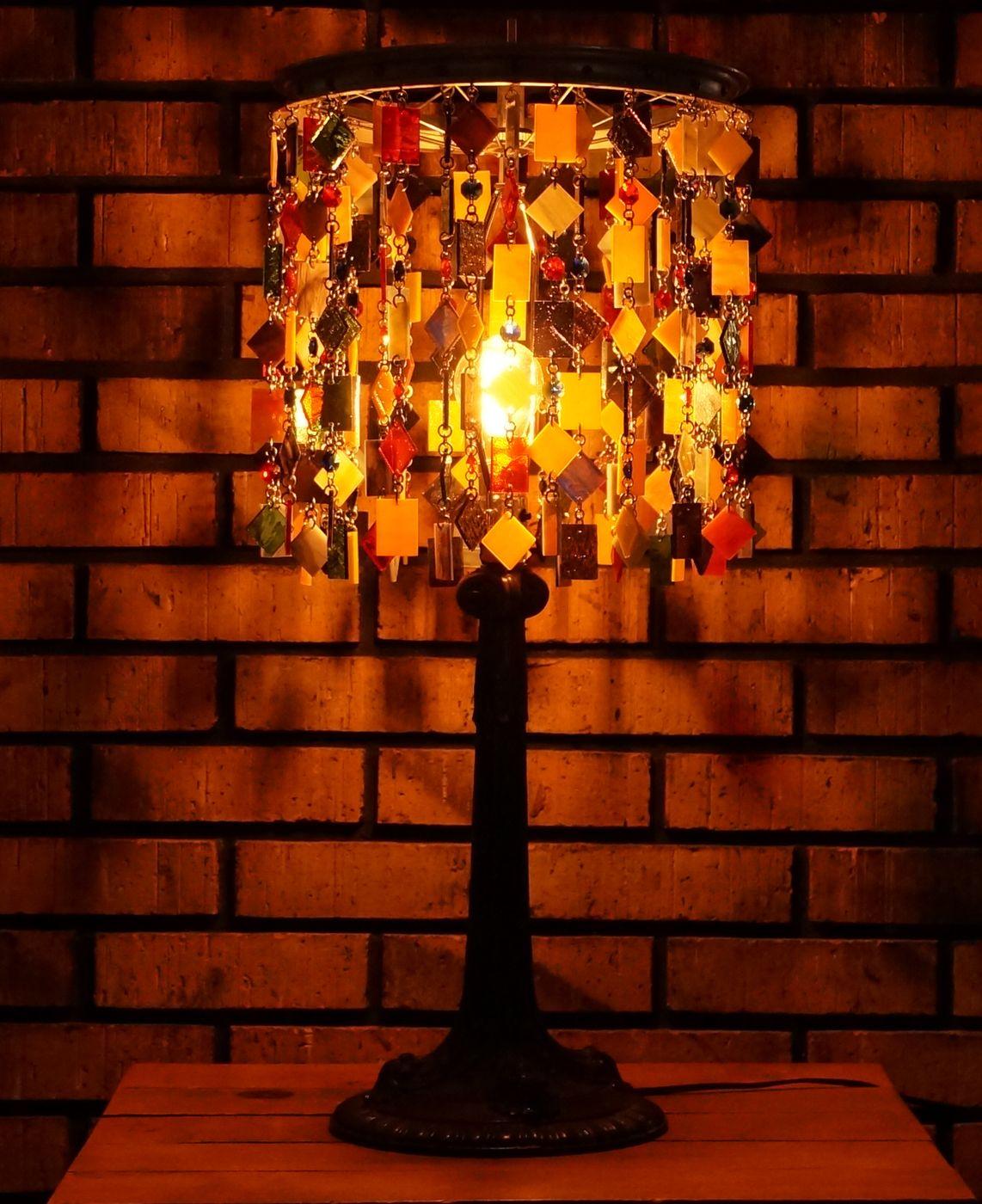 Handmade custom made stained glass art glass lamp table lamp custom made custom made stained glass art glass lamp table lamp accent aloadofball Choice Image