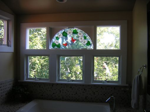 Custom Made Custom Window W/ Stained Glass