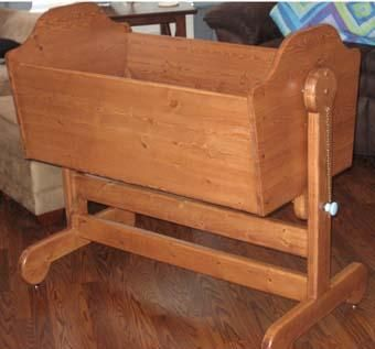 Custom Made Pine Baby Cradle