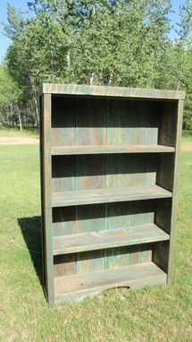 Custom Made Barnwood Book Shelf