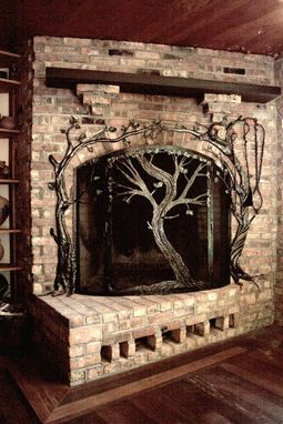 Hand Made Fireplace Screens By Earth Eagle Forge Llc