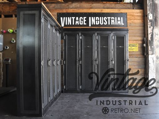 Hand Crafted Vintage Industrial Locker Bookcase Mudroom