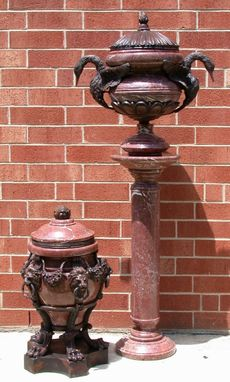 Custom Made Red Marble Urn Collection