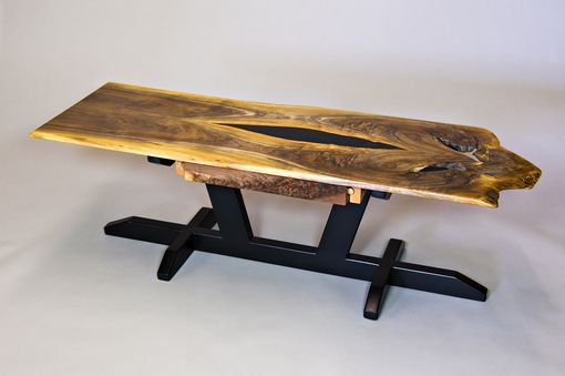 Custom Made Walnut Slab Coffee Table