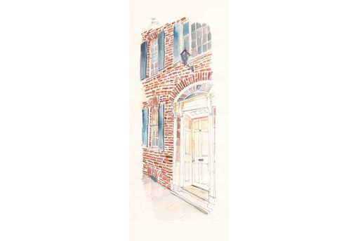 Custom Made Example Architectural Portrait; Watercolor Painting