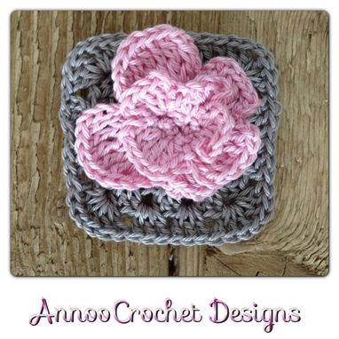 Custom Made Shabby Chic Rose Granny Pattern
