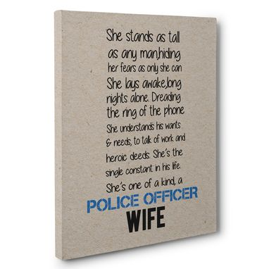 Custom Made Police Officer Wife Canvas Wall Art