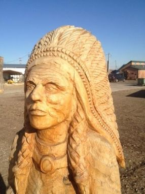 Custom Made Carved Cigar Store Indian
