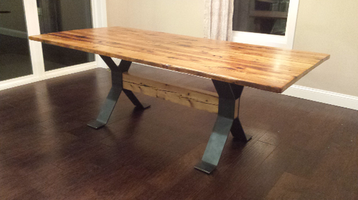 Custom Made Metal Trestle Table Base
