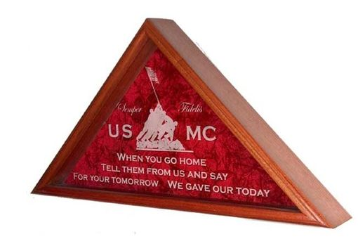 Custom Made Marine Corps Gifts, Marine Corps Flag Case