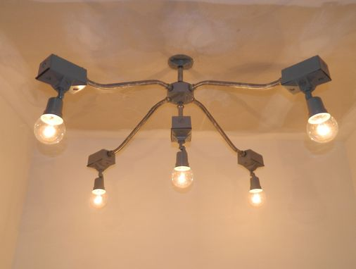 Custom Made Outdoor Security Light 5-Bulb Chandelier