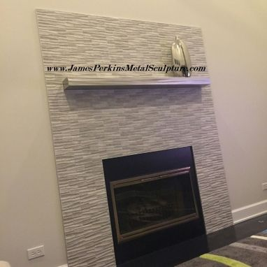 Custom Made Stainless Steel Fireplace Mantel