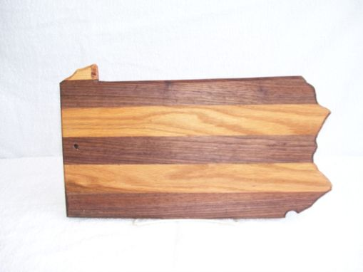 Custom Made Pennsylvania State Cutting Board - Made Of Oak And Walnut