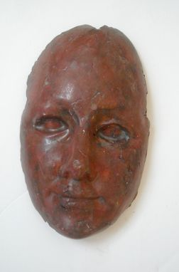 Custom Made Death Masks, Made Of Air-Dry Clay, In Various Finishes And Distressed Surfaces
