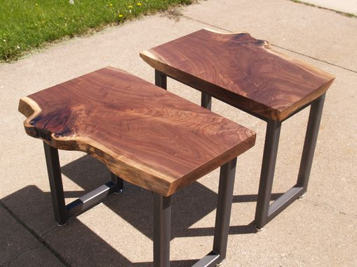 Custom Made Live Edge Walnut Slab Tables
