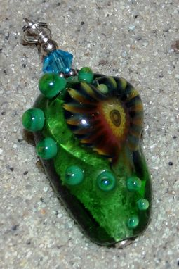 "Custom Made Memorial Jewelry | ""Green Murrini""  