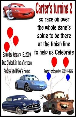 Custom Made Cars Childrens Birthday Invites Listing Stats