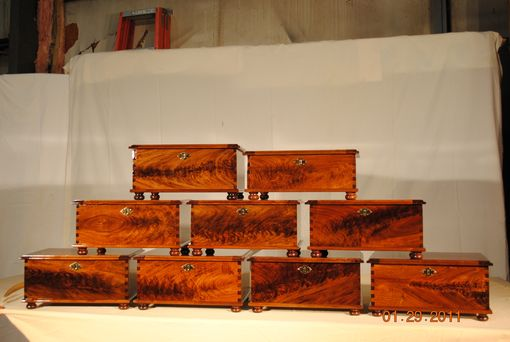 Custom Made Elegant Walnut Burl Jewelry Boxes
