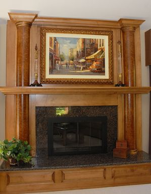 Custom Made Mantle With Burl Columbs