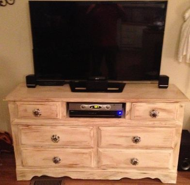 Custom Made Distressed Tv Cabinet
