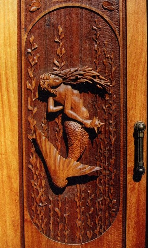 Hand Crafted Mermaid Door By Lefner Sculpture Custommade Com