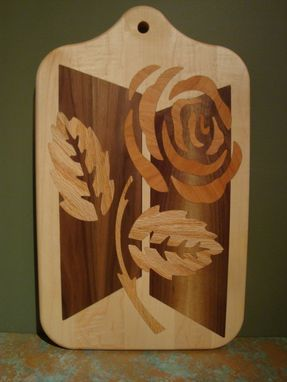 Custom Made Solid Wood Inlayed Cutting Boards, Slice And Dice On One Side, Clean And Hang #5