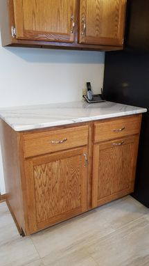 Custom Made Replacement Oak Base Kitchen Cabinets